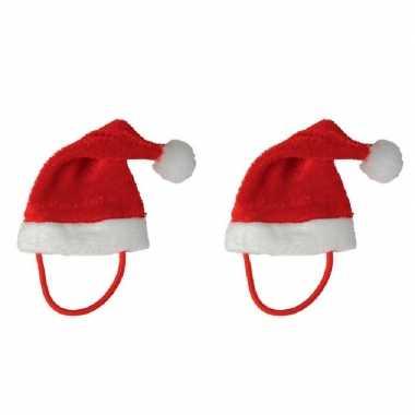 X stuks kerstmutsen een knuffel/huisdier kopen
