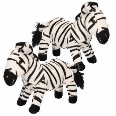 X stuks pluche zebra knuffeltje kopen