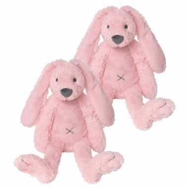 X stuks roze knuffel konijn roze kopen