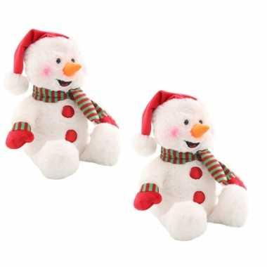 X stuks sneeuwpop knuffels muziek licht kerstpoppen geluid kopen