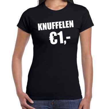 Zwart knuffelen euro fun shirtje feest t shirt dames kopen