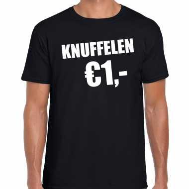 Zwart knuffelen euro fun shirtje feest t shirt heren kopen