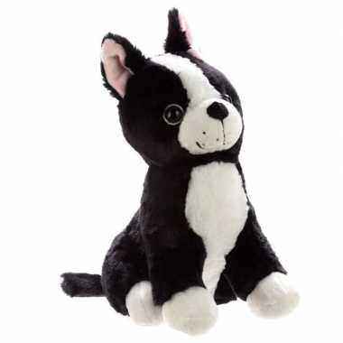 Zwart witte hond deurstopper/deurwig kopen