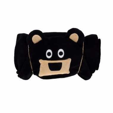 Zwarte beer fleecedeken cm kopen