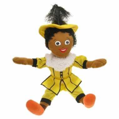 Zwarte Piet poppen geel kopen