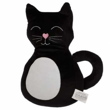 Zwarte zwarte kat/poes deurstopper/deurwig kopen