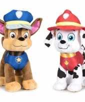 Paw patrol knuffels set karakters chase marshall kopen 10247277