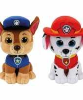 Paw patrol knuffels set karakters chase marshall kopen