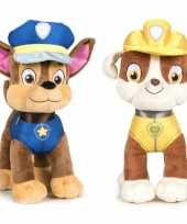Paw patrol knuffels set karakters chase rubble kopen 10247275