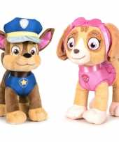 Paw patrol knuffels set karakters chase skye kopen 10247274