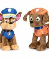 Paw patrol knuffels set karakters chase zuma kopen 10247495