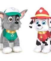Paw patrol knuffels set karakters rocky marshall kopen