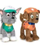 Paw patrol knuffels set karakters rocky zuma kopen 10247505