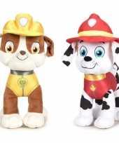 Paw patrol knuffels set karakters rubble marshall kopen 10247278