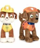 Paw patrol knuffels set karakters rubble zuma kopen 10247509
