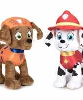 Paw patrol knuffels set karakters zuma marshall kopen