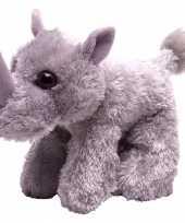 Pluche knuffel knuffeldier neushoorn grijs kopen