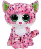 Ty beanie boo s pluche poes cm roze kopen