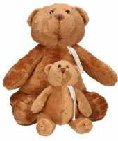 X bruine happy horse moeder kind beren knuffels boris knuffeldieren kopen