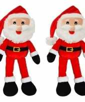 X kerstman etalagepop decoratie pluche kopen
