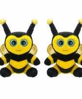 X stuks pluche bijen knuffel kopen
