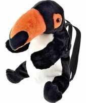 Zwarte toekan vogel rugzak rugtas knuffels knuffeldieren kopen
